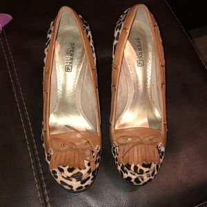Sperry top sider wedge shoe size 8